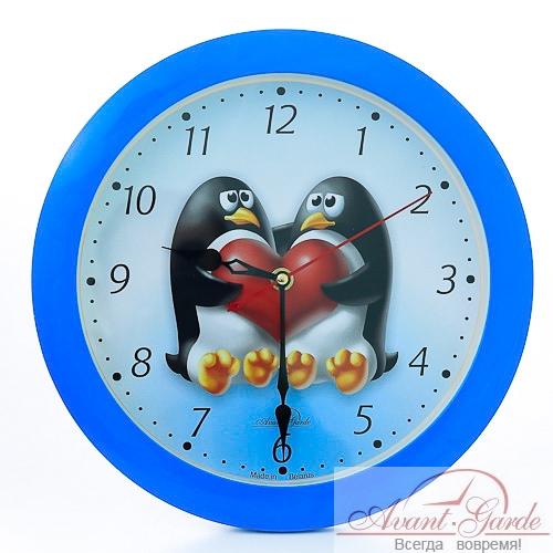 настенные часы из пластика пингвины (1)