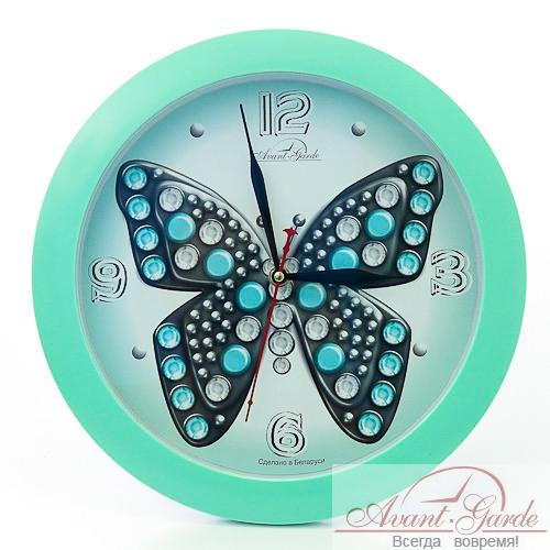 настенные часы из пластика бабочка (1)